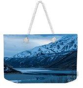 Mount Timpanogos Winter Evening Weekender Tote Bag