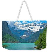 Mount Victoria Rises Above Lake Louise In Banff Np-alberta Weekender Tote Bag