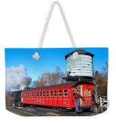 Mount Washington Cog Railway Car 6 Weekender Tote Bag by Debbie Stahre