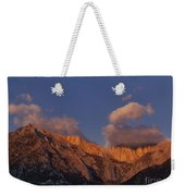 Mount Whitney In Clouds Alabama Hills Eastern Sierras California  Weekender Tote Bag