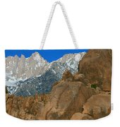 Mount Whitney, Lone Pine, California Weekender Tote Bag