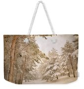 Mountain Adventure In The Snow Weekender Tote Bag