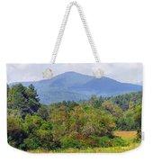 Mountain And Valley Near Brevard Weekender Tote Bag