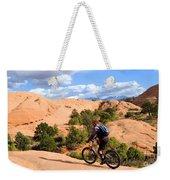 Mountain Biking Moab Slickrock Trail - Utah Weekender Tote Bag