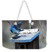 Mountain Bluebirds Mating Weekender Tote Bag