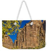 Mountain Cliffs At Zion Weekender Tote Bag