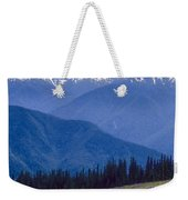 Mountain Color And Snow Weekender Tote Bag
