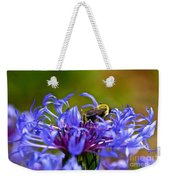 Mountain Cornflower And Bumble Bee Weekender Tote Bag
