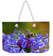 Mountain Cornflower And Bumble Bee Weekender Tote Bag by Byron Varvarigos