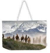 Mountain Dust Storm Weekender Tote Bag