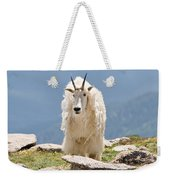 Mountain Goat Portrait Weekender Tote Bag
