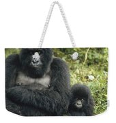 Mountain Gorilla Mother And Baby Weekender Tote Bag