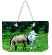Mountain Horses Grazing  Weekender Tote Bag