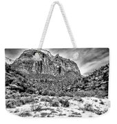 Mountain In Winter - Bw Weekender Tote Bag