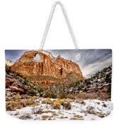 Mountain In Winter Weekender Tote Bag