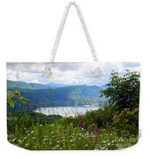 Mountain Lake Viewpoint Weekender Tote Bag by Carol Groenen
