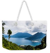 Mountain Lakes In Guatemala Weekender Tote Bag