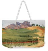 Mountain Landscape With Egret Weekender Tote Bag