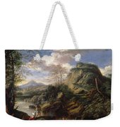 Mountain Landscape With Figures Weekender Tote Bag