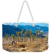 Mountain Layer Landscape From Quail Springs In Joshua Tree Np-ca- Weekender Tote Bag
