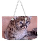 Mountain Lion Cub Weekender Tote Bag