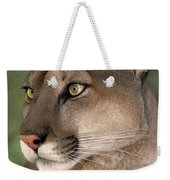 Mountain Lion Portrait Wildlife Rescue Weekender Tote Bag