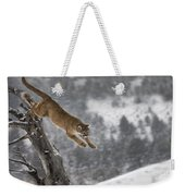 Mountain Lion - Silent Escape Weekender Tote Bag by Wildlife Fine Art