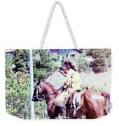 Mountain Man On A Horse Weekender Tote Bag