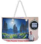 Mountain Moonglow Mural Weekender Tote Bag