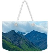 Mountain Peaks From Eielson Visitor's Center In Denali Np-ak Weekender Tote Bag