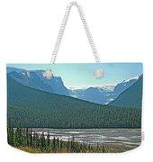 Mountain Peaks From Icefields Parkway-alberta Weekender Tote Bag