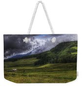 Mountain Storm Weekender Tote Bag