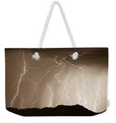 Mountain Storm - Sepia Print Weekender Tote Bag