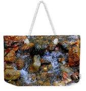 Mountain Stream In Autumn Weekender Tote Bag