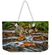 Mountain Stream Rushing After Heavy Rain E134 Weekender Tote Bag