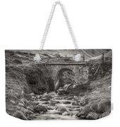 Mountain Stream With Bridge Weekender Tote Bag