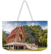 Mountain Temple Weekender Tote Bag