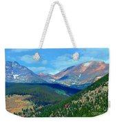 Mountain Top Color Weekender Tote Bag