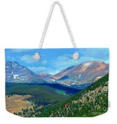 Mountain Top Color Weekender Tote Bag