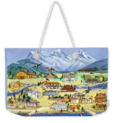 Mountain Town Of Canmore Weekender Tote Bag