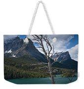 Mountain View At Glacier National Park Weekender Tote Bag