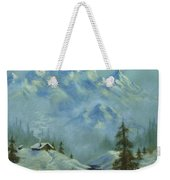Mountain View With Creek Weekender Tote Bag