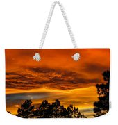Mountain Wave Cloud Sunset With Pines Weekender Tote Bag