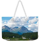 Mountains Along Cassiar Highway In Yt Weekender Tote Bag