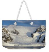 Mountains And Glacier At Sunset Weekender Tote Bag