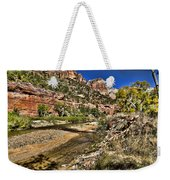 Mountains And Virgin River - Zion Weekender Tote Bag