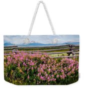 Mountains And Wildflowers Weekender Tote Bag