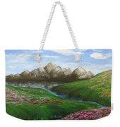Mountains In Springtime Weekender Tote Bag