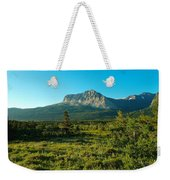 Mountains Of Many Glacier Weekender Tote Bag