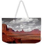 Mountains, West Coast, Monument Valley Weekender Tote Bag